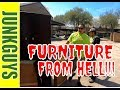 Heavy Apartment furniture from Hell  / dfwjunkguys.com