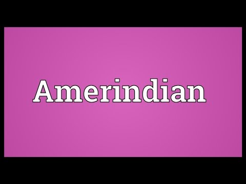 Amerindian Meaning