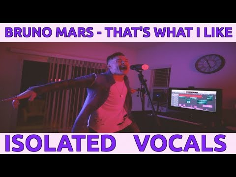 "BRUNO MARS - ""THAT'S WHAT I LIKE"" (***ISOLATED VOCALS***)"