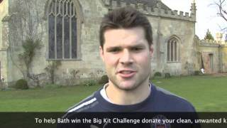 Bath rugby star Dan Hipkiss calls on all Bath fans to donate their unwanted rugby kit