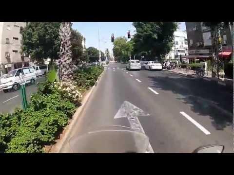 Testing the GoPro Hero2 on my helmet in Tel Aviv/Ramat Gan