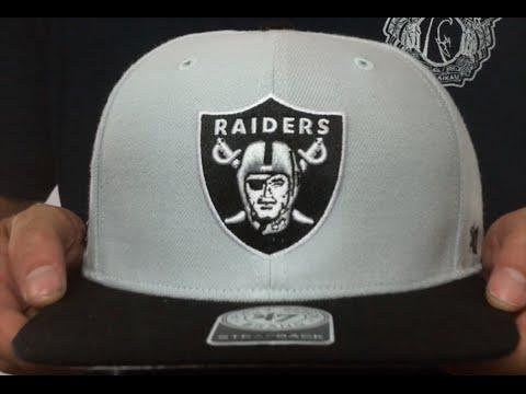 e39dfc8802047 Raiders  SUPER-SHOT STRAPBACK  Grey-Black Hat by Twins 47 Brand ...