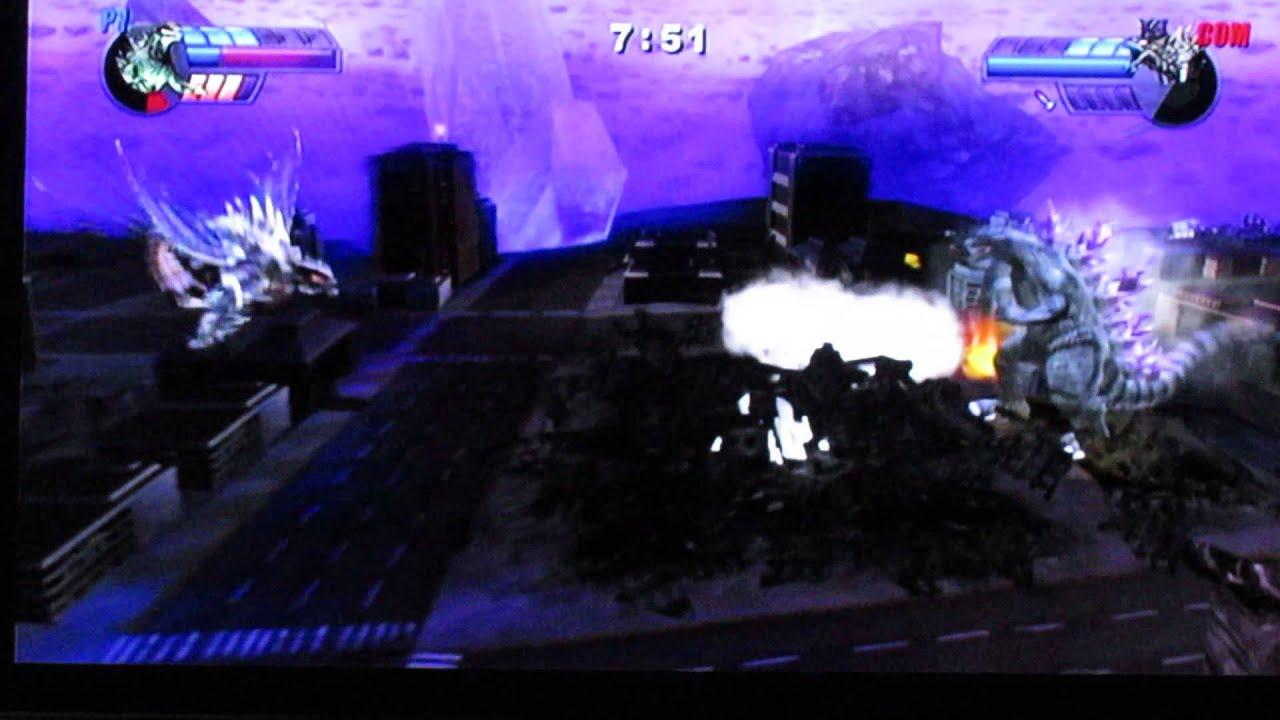 Godzilla: Unleashed - Godzilla 2000 vs Megaguirus - YouTube