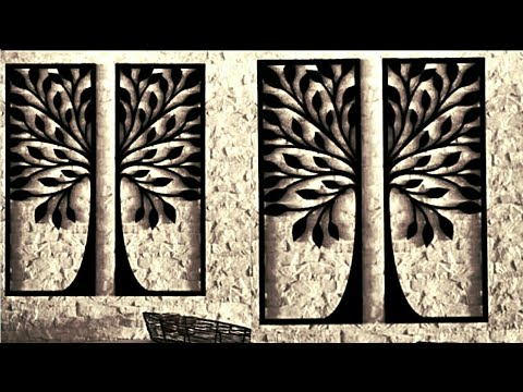 Amazing Diy Home Decor Wall Art Using Cardboard Youtube