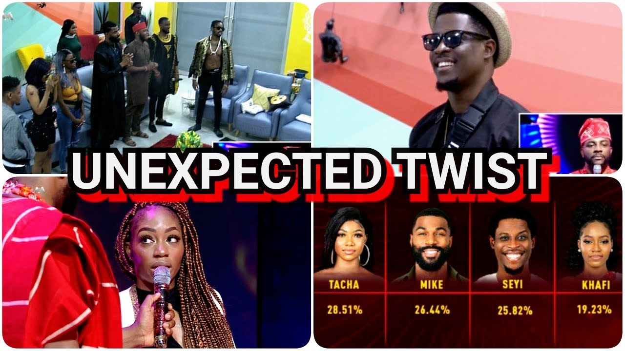 BBNAIJA 2019 UPDATES| BIGGIE SH0CKED HOUSEMATES WITH A NEW TWIST AS KHAFI GET EVICTED, SEYI SAVED