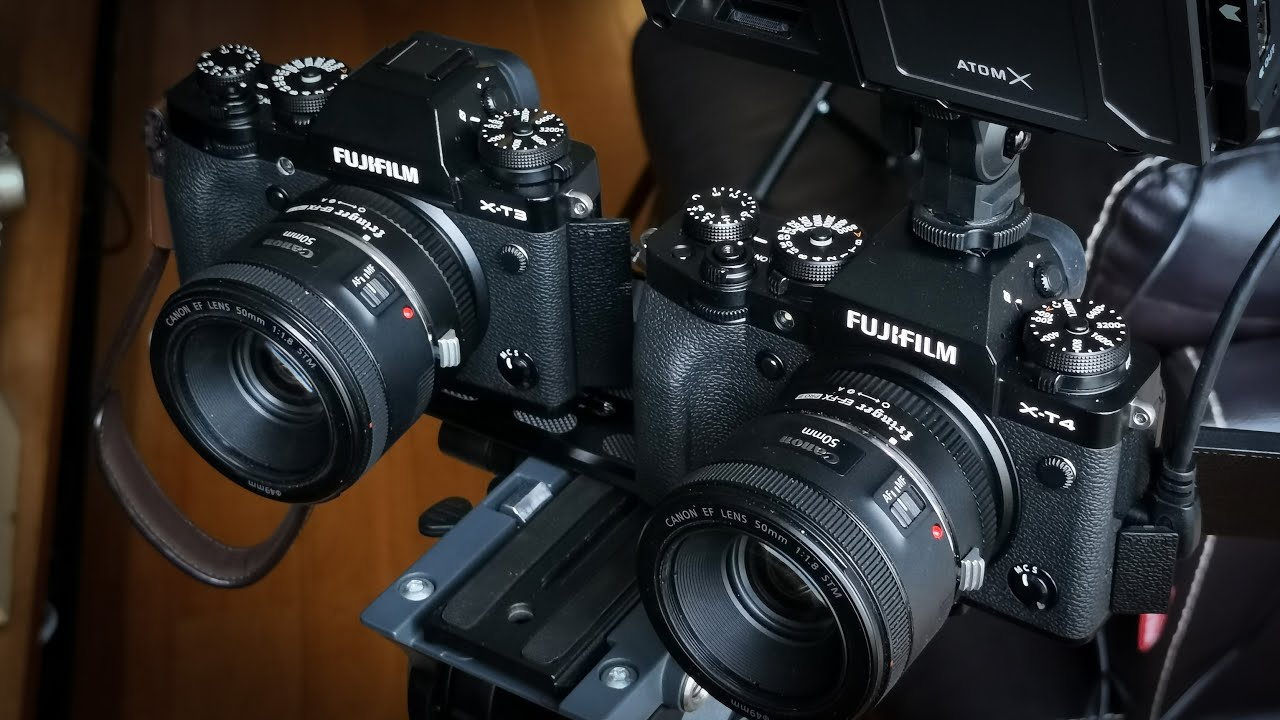 X-T4 vs. X-T3 (with Fringer EF-FX Pro II adapter)