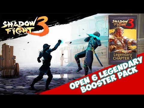 Shadow Fight 3 OPEN 6 LEGENDARY BOOSTER PACK