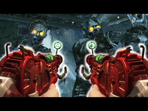 DUAL WIELD RAY GUNS ONLY CHALLENGE! Call of Duty Black Ops Zombies Mod