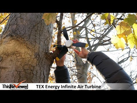 Portable Wind Turbine by TEX Energy: Infinite Air