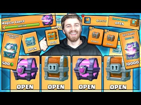 ALL FREE CHEST OPENING!! HOW MANY LEGENDARIES?! | Clash Royale | OPENING ALL MY CHESTS!