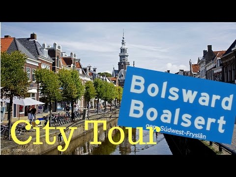 Bolsward (Boalsert)  Friesland (Fryslân) The Netherlands (City Tour) GoPro