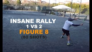 Insane Tennis Rally With Two Junior Players | 1 Vs 2 Figure 8 (TENFITMEN)