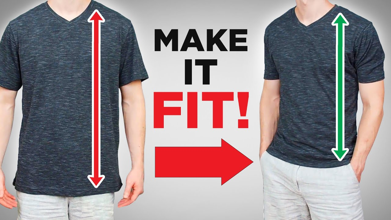 How To Tailor A Long T-shirt In 4 Mins (The Easy Way)