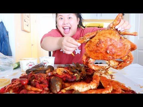 MUKBANG SEAFOOD BOIL! 먹방 (EATING SHOW!) DUNGENESS CRAB + SNOW CRAB + CRAWFISH + SHRIMP + MUSSELS