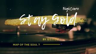 「Nightcore」→ BTS - Stay Gold