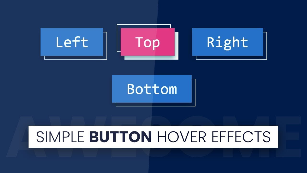 Simple Button Hover Effects | Html CSS