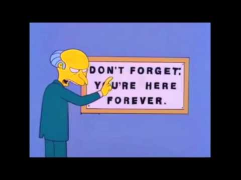 Image result for simpsons don't forget you're here
