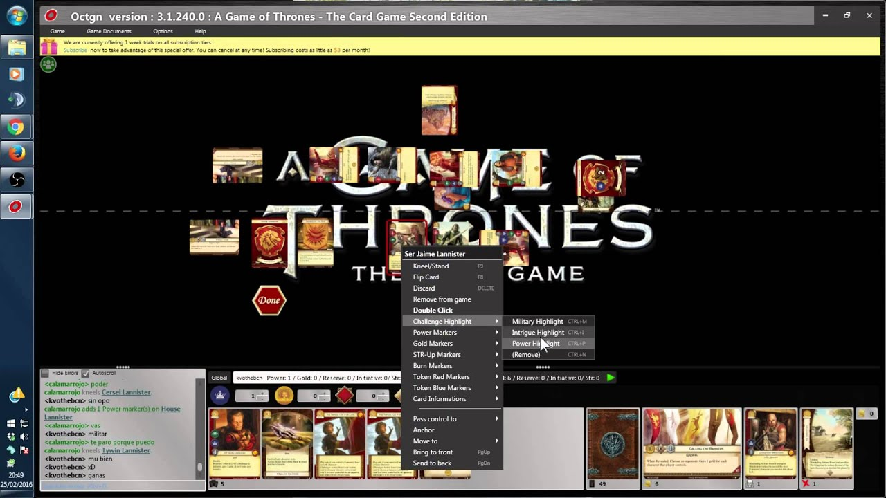 OCTGN GAME OF THRONES PDF DOWNLOAD