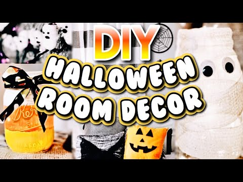 6 DIY HALLOWEEN ROOM DECOR IDEAS! | Easy and cheap decor! Halloween 2018