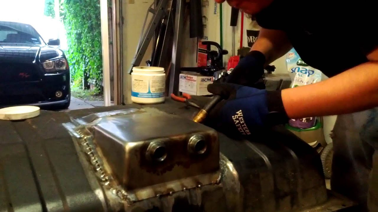 68 Mustang Fuel Tank Sump Install Youtube