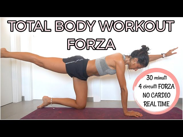 30 min ALLENAMENTO TOTAL BODY A CIRCUITO FORZA, No Equipment | Silvia Fascians