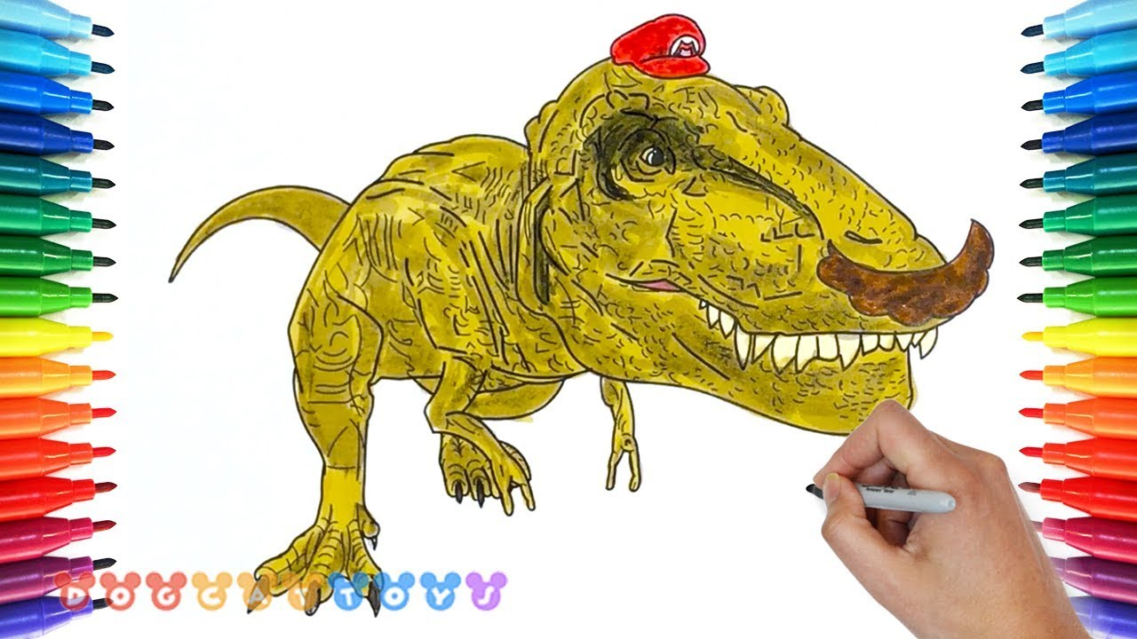 How to Draw Mario Odyssey Dinosaur