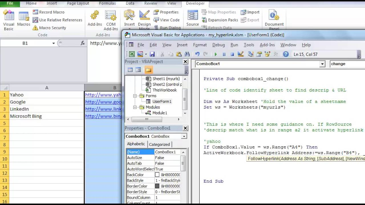 Excel Vba Combobox Tutorial