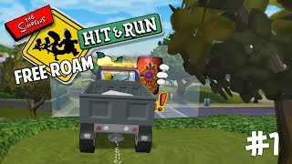 The Simpsons Hit and Run Free Roam #1 - Glitches (The Simpsons Hit and Run Gameplay)