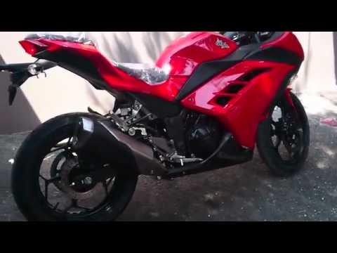 2013 kawasaki ninja 250 red - YouTube