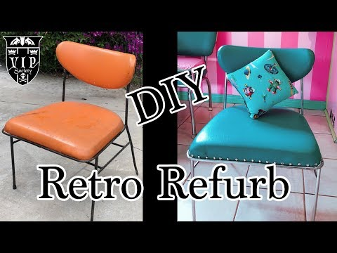 Retro Chair Refurb DIY ASMR