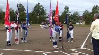 全道少年北広島地区予選・開会式(選手宣誓)