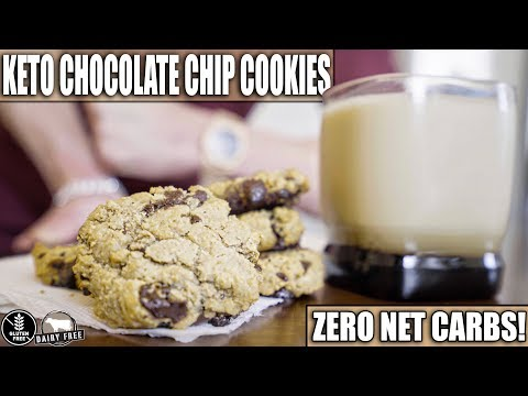 ZERO CARB KETO CHOCOLATE CHIP COOKIES RECIPE | ARE THEY ANY GOOD? | Gluten Free & Dairy Free