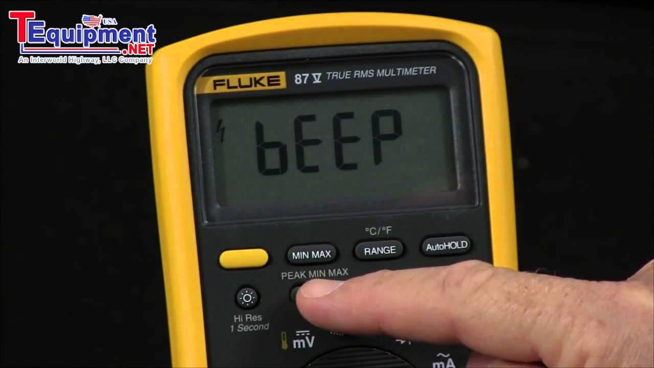 What Are The Power Up Options On The Fluke 87 V Multimeter