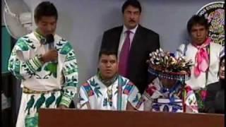 Conferencia de Prensa en el Senado Autoridades del Pueblo Wixárika (Huichol) 2de3