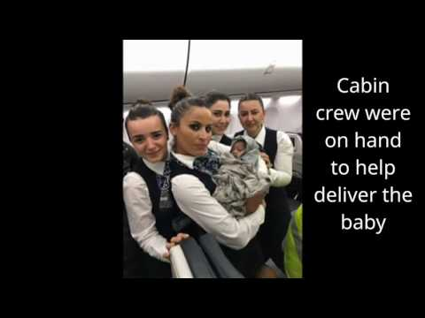 Baby born on Turkish Airlines flight