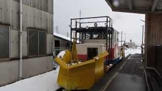 [HD]樽見鉄道 樽見線 元神岡鉄道DB1形ディーゼル機関車!! 本巣駅樽見方面へ向けて 発車!!