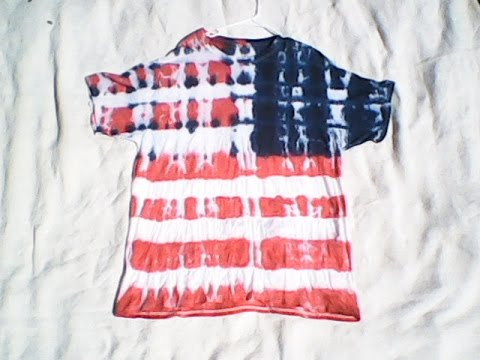 How To Tie Dye An American Flag