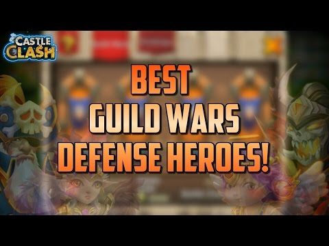 Castle Clash BEST Heroes For Guild Wars Defense!