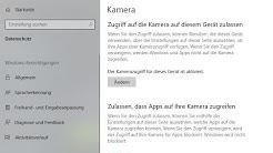Berechtigung für Webcam & Mikrofon einstellen - Windows 10