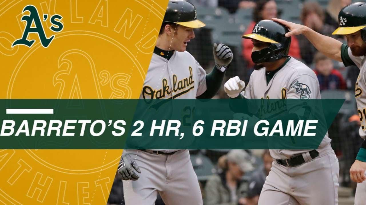 Barreto bashes 2 HRs, plates 6 vs. White Sox