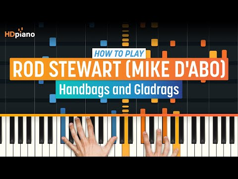 """How To Play """"Handbags and Gladrags"""" by Rod Stewart (Mike d'Abo)   HDpiano (Part 1) Piano Tutorial"""