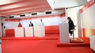 Debate entre los candidatos a la secretaria general del PSOE