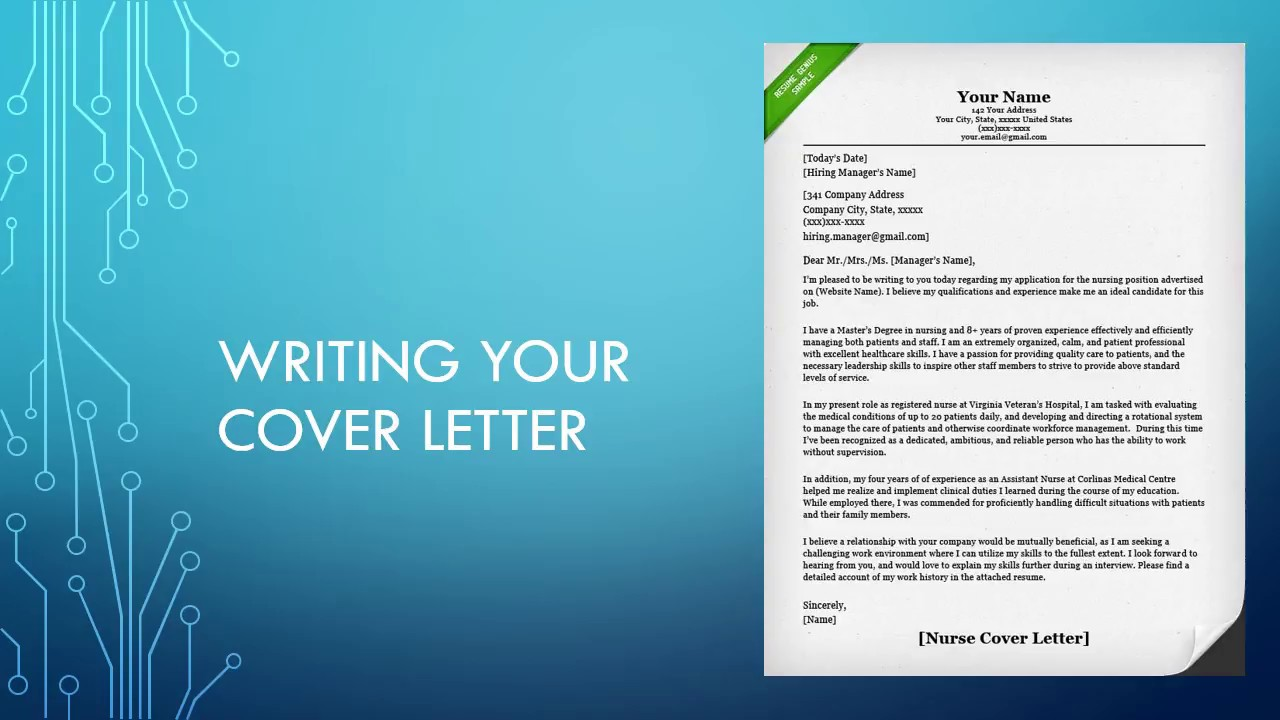 Writing Your Cover Letter - YouTube