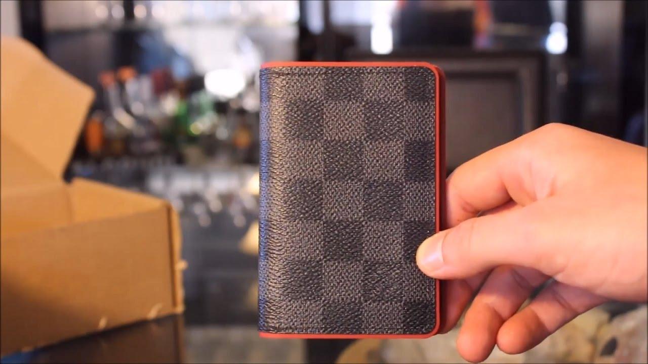 32e85ce8b8fe  LOUIS VUITTON Damier Graphite  BORDEAUX  Trim Pocket Organiser Unboxing  and Review!
