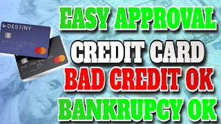 Soft Pull Pre-Approval Credit Builder Card for Bad Credit or No Credit! Bankrupcy OK!