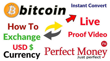 Bitcoin To Perfect Money Instant Automatic exchange Convert CryptoCurrency Convert USD Dollar Hindi