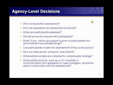 Orientation Assessments: Content, Delivery, and Validity