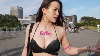 "EDC JAPAN 2018! ""How was the train ride?""「電車どうだった?」4K"