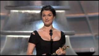 Rachel Weisz winning Best Supporting Actress