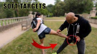 Women's Self Defense   Soft Targets attack the balls